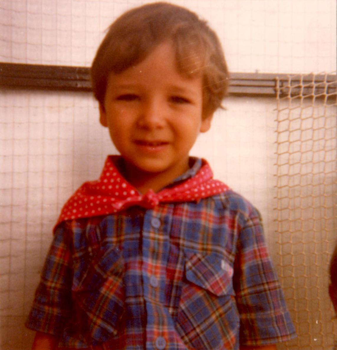 Mr. Hueso con unos 5 años