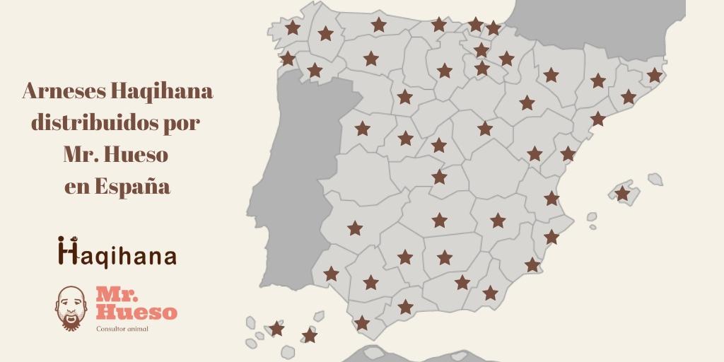 Arneses Haqihana distribuidos por Mr. Hueso en España