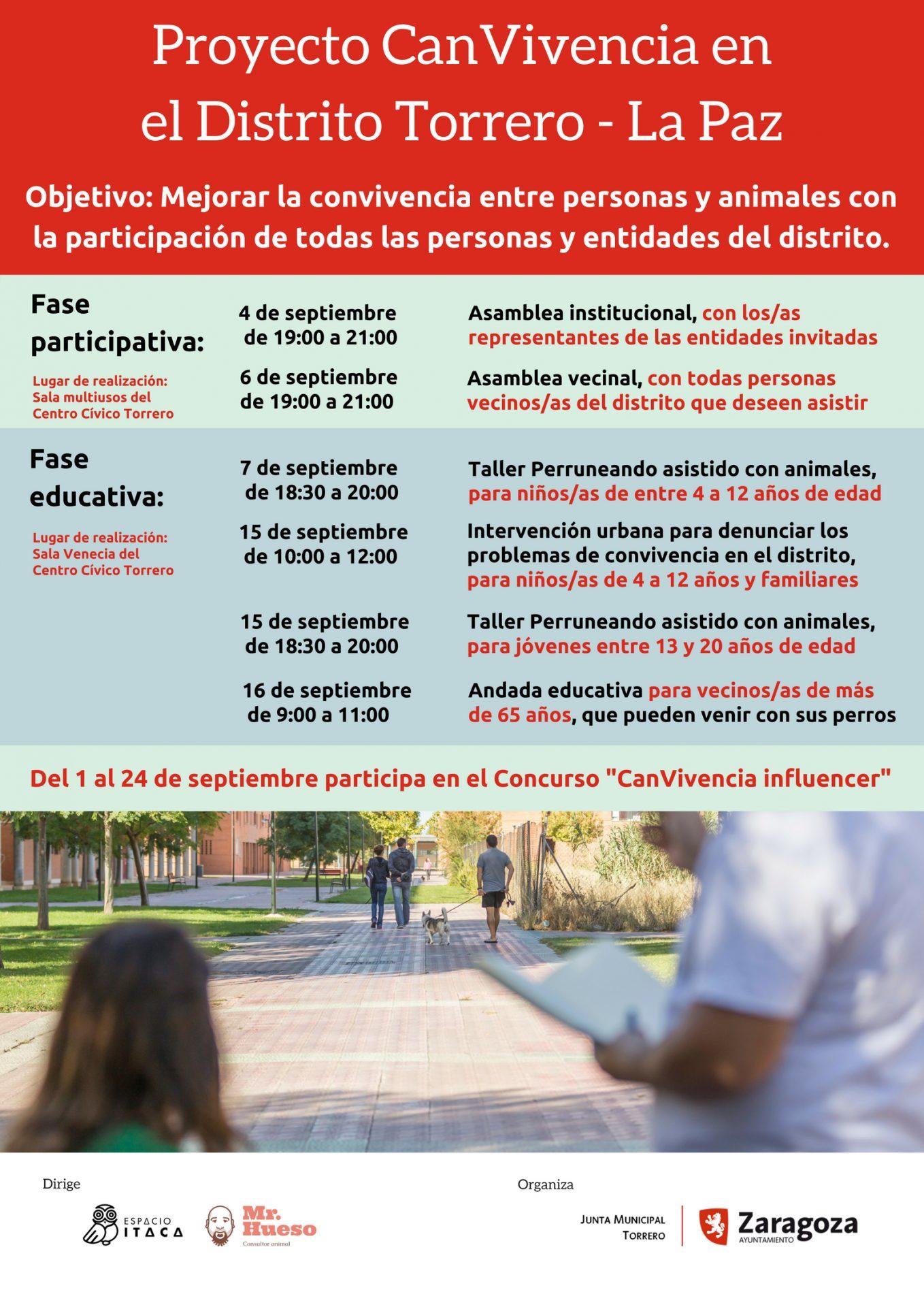 cartel Proyecto CanVivencia en Torrero - La Paz